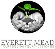 "Logo that reads ""Everett Mead Your Personal Insurance Brokers"""