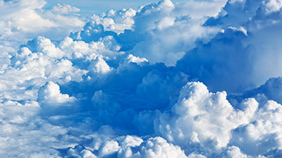 Clouds with white and blue hue