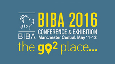 BIBA logo with the following text - BIBA 2016 Conference and Exhibition Manchester Central, May 11 -12 the go 2 place